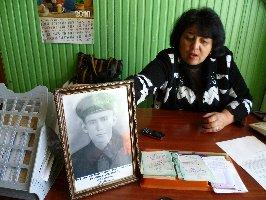 Л.В.Киссер рассказывает, как сын, внук и правнуки из г.Харькова нашли могилу своего предка в с.Волково.13.09.2010 г.